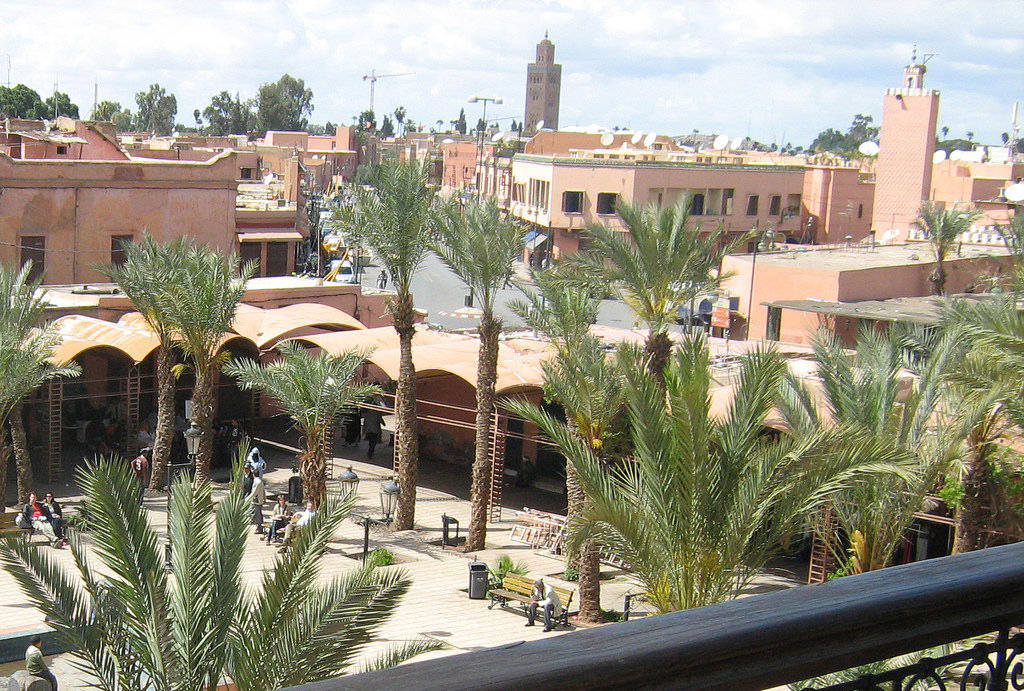Vista de la ciudad de Marrakech