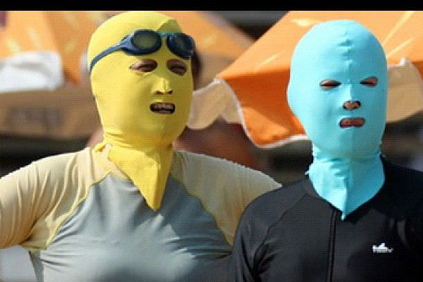 Chinese Beach Fashion The Face-kini